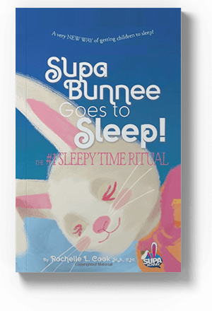 Supa Bunnee Goes to Sleep Paperback – Large Print, July 3, 2018 by Rochelle L Cook (Author), Michael Glock Ph.D. (Editor), Debora Wolffenbuttel (Illustrator)